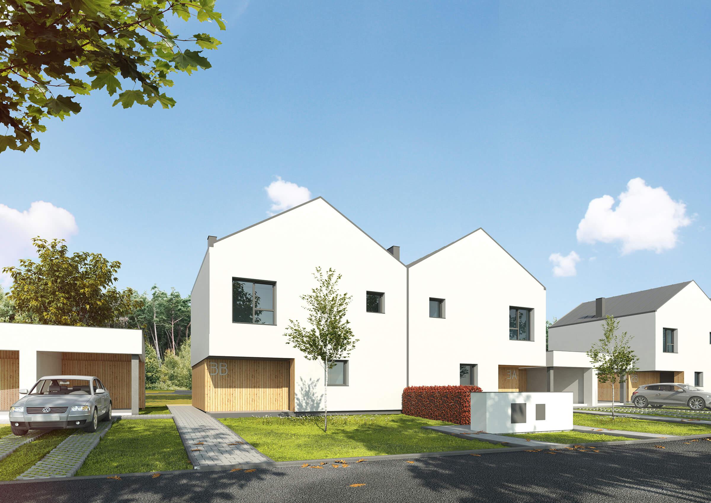 Semi-detached houses, Daszewice, PL
