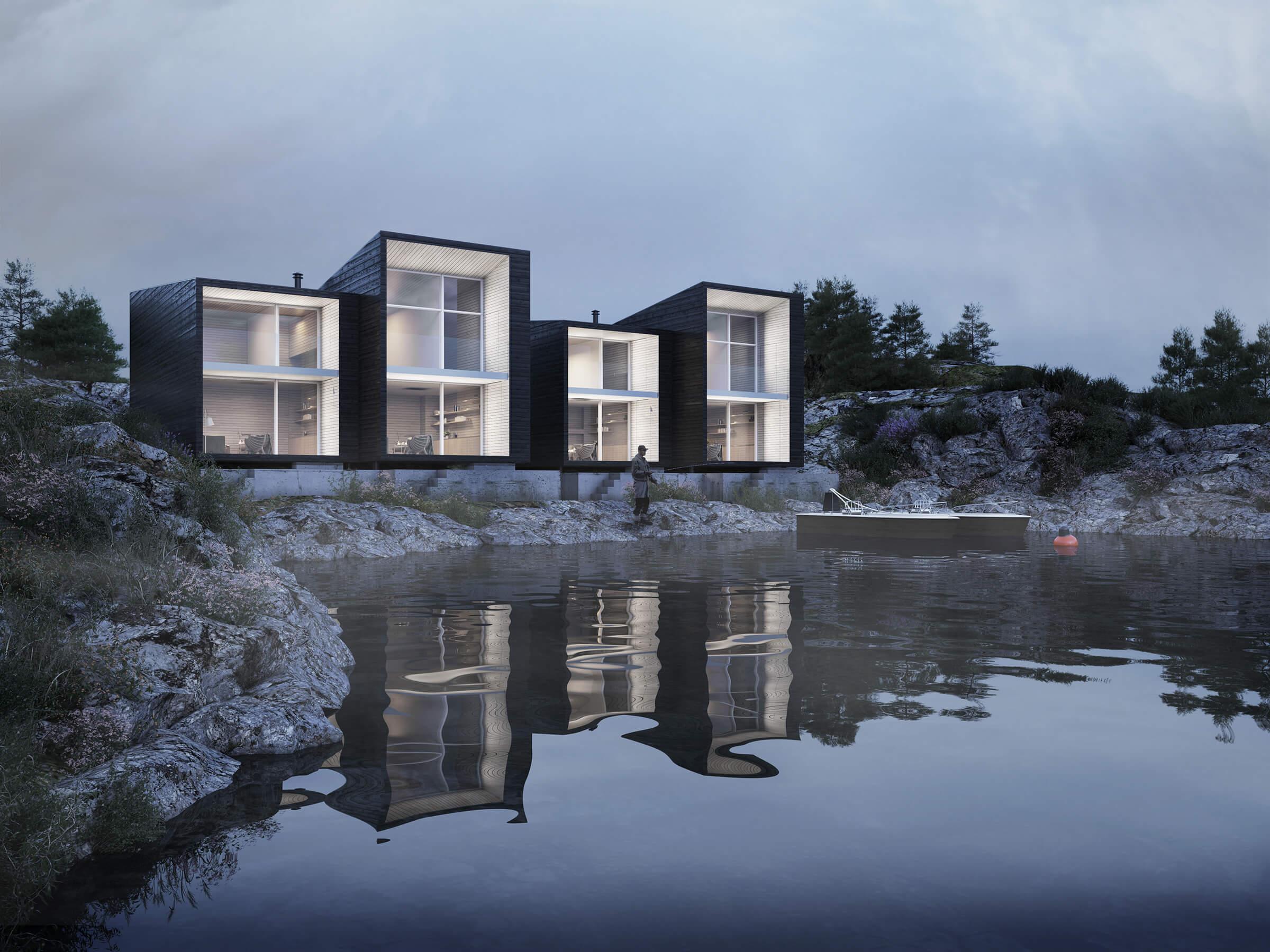 Boat Houses, Fedje, NO
